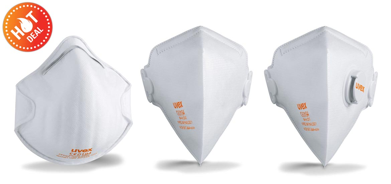 หน้ากาก N95 ยี่ห้อ UVEX ป้องกันมลพิษ PM 2.5 มี 3 แบบให้คุณเลือก