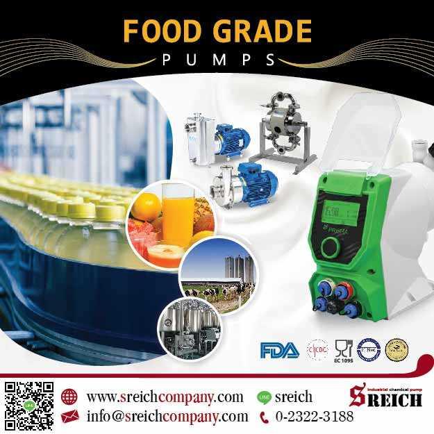 Hygienic Pump ปั๊มฟู้ดเกรดสำหรับอุตสาหกรรมอาหาร และเครื่องดื่ม